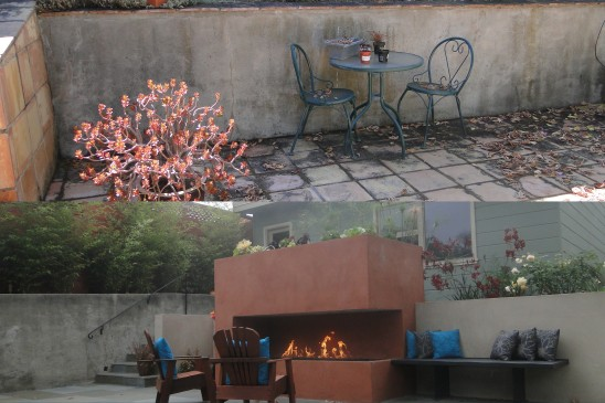Fireplace - before and after