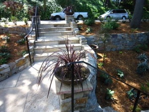 After: Wider entry walkway
